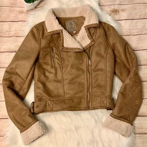 🎉3xHP!!🎉Ashley Faux Suede and Shearling Jacket